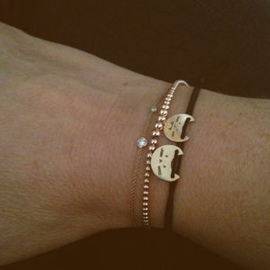 Sweet Purrrr-Cord bracelet | Hortense Jewelry - custom handmade bracelets, beautiful handmade bracelets, handmade bracelets and necklaces