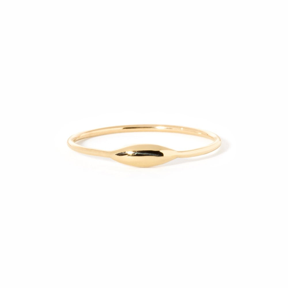 Rise and Shine-Ring 14K YG size 4 | Hortense Jewelry - ethical diamond rings, delicate designer rings, designer gold rings