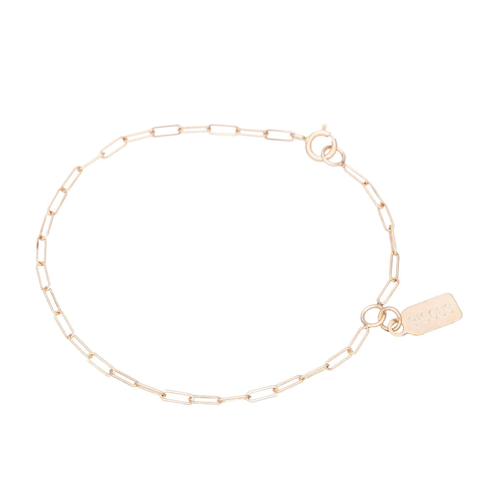 Single Tag bracelet-Best Seller since 2015 14KYG Size 6