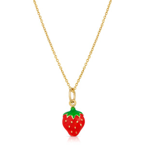 The Strawberry Necklace-Cable Chain