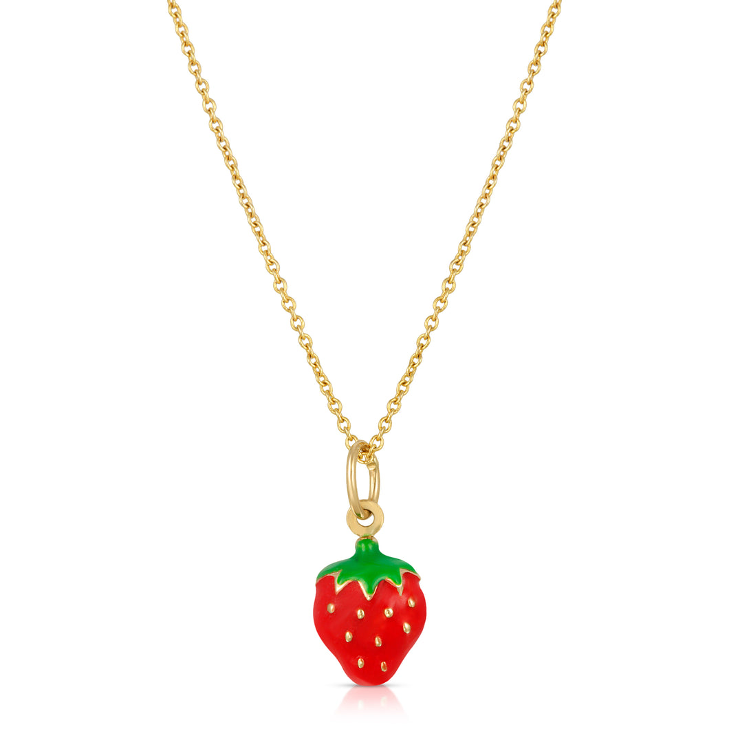 The Strawberry Necklace-Cable Chain-Website Exclusive