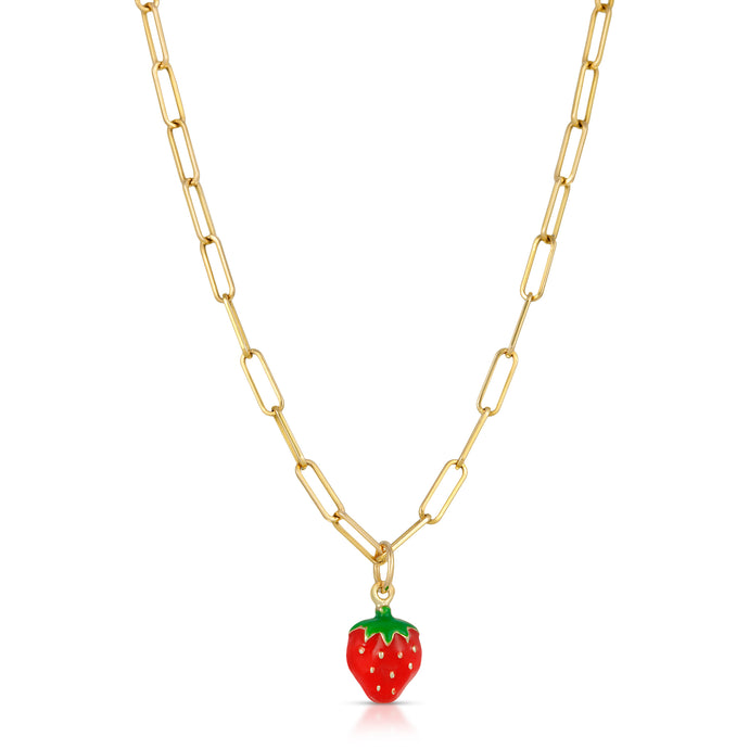 The Strawberry Necklace-Link Chain