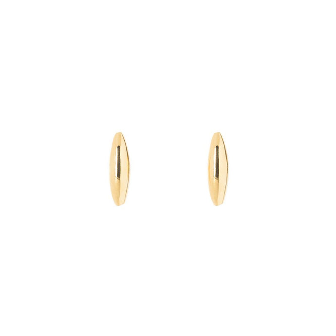 Rise and Shine-Earring no diamond 14KYG SINGLE | Hortense Jewelry - yellow gold bridal earrings, designer bridal earrings, ethical gold earrings
