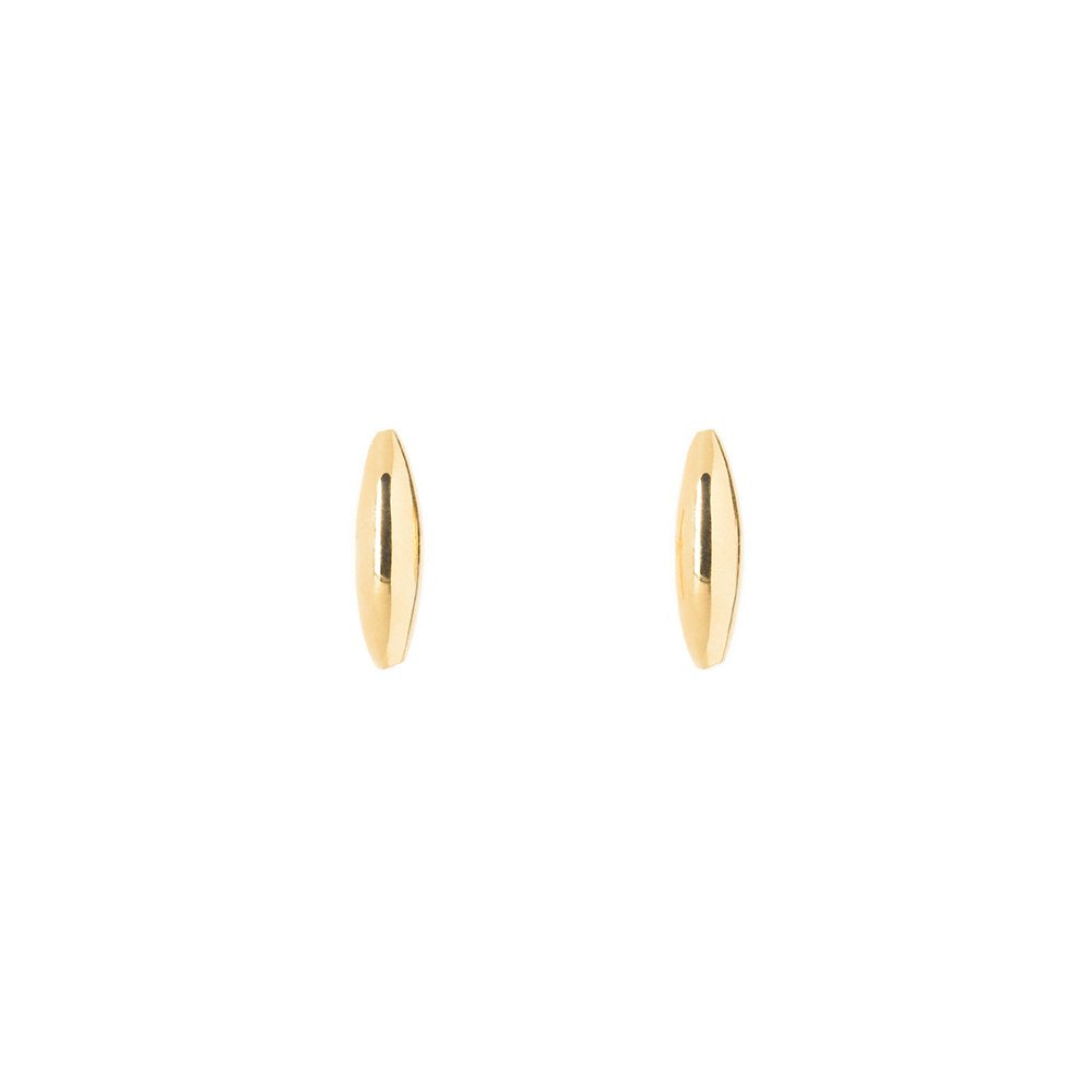 Rise and Shine-Earring no diamond 14KYG SINGLE | Hortense Jewelry - 14k yellow gold diamond earrings, round diamond earrings white gold, pure gold designer earrings