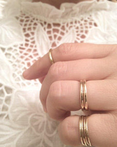 """Promise"" medium ring band 