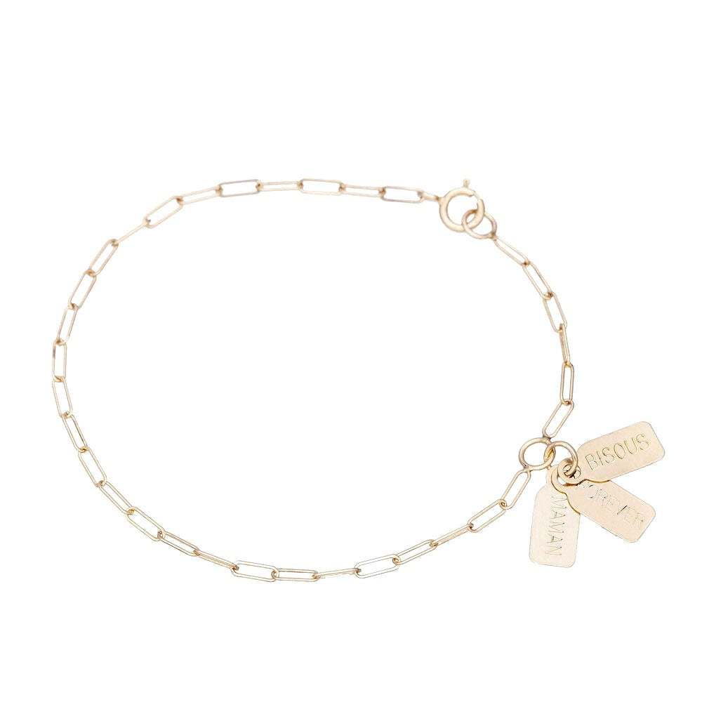Selected for Valentine's Day 2019/Triple Tag Bracelet-Chain Each Other