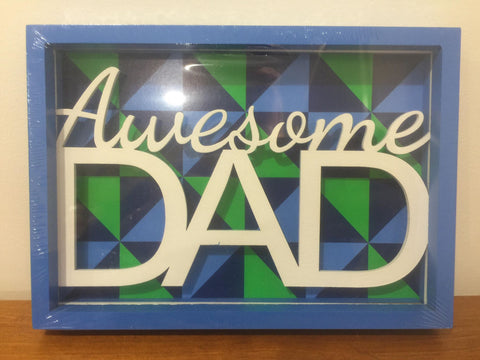 Awesome Dad Shadow Box