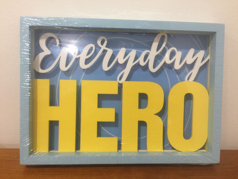 Everyday Hero Shadow Box