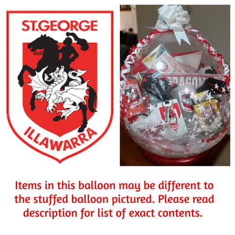 Dragons Nrl Stuffed Balloon #01