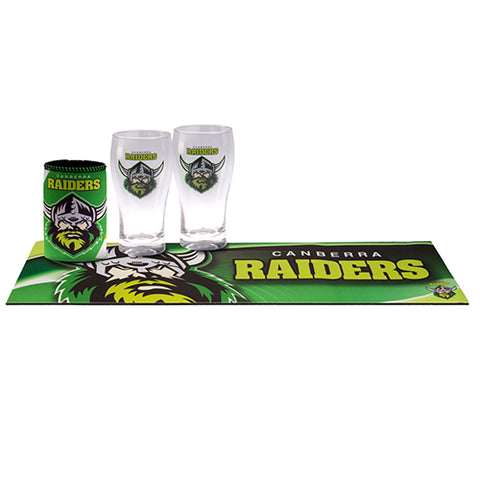 Raiders Nrl Bar Set