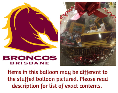 Broncos Nrl Stuffed Balloon #01