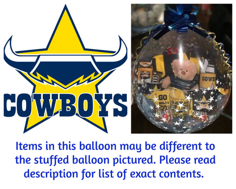 Cowboys Nrl Stuffed Balloon #01