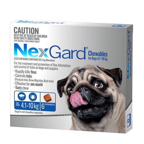 Nexgard Medium Dogs 4.1-10kgs