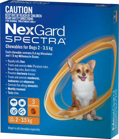Nexgard Spectra Very Small 2-3.5kg Dogs