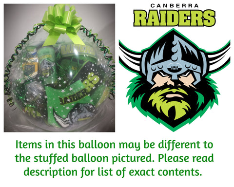 Raiders Nrl Stuffed Balloon #01