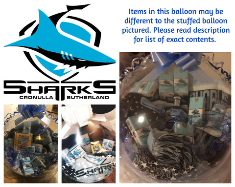 Sharks Nrl Stuffed Balloon #02