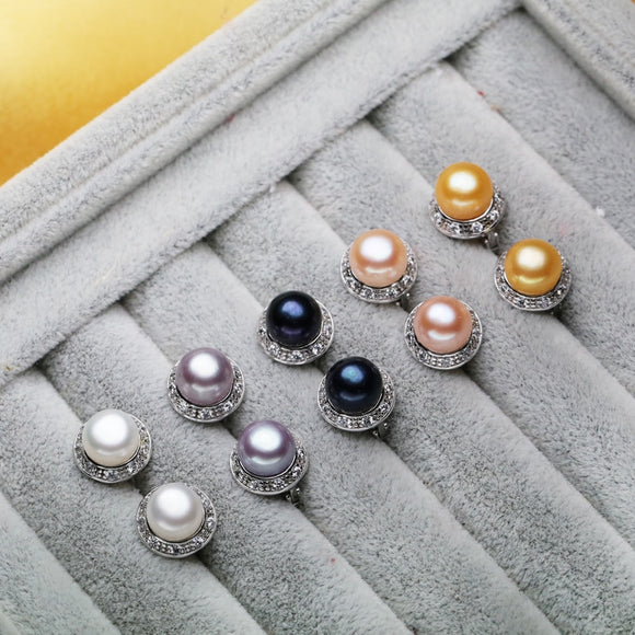 Natural pearl earrings for women