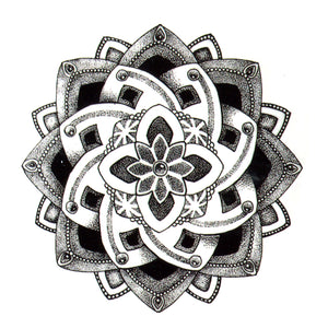 Lotus Flower Waterproof Tattoos