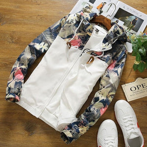 Floral Bomber Jacket Men Hot SALE 2018