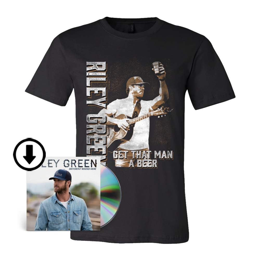 Get That Man A Beer Photo Tee & Different 'Round Here Digital Album