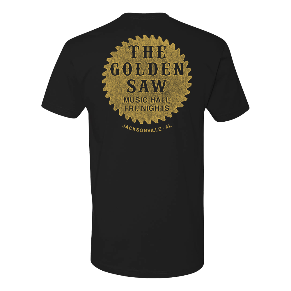 The Golden Saw Black Tee