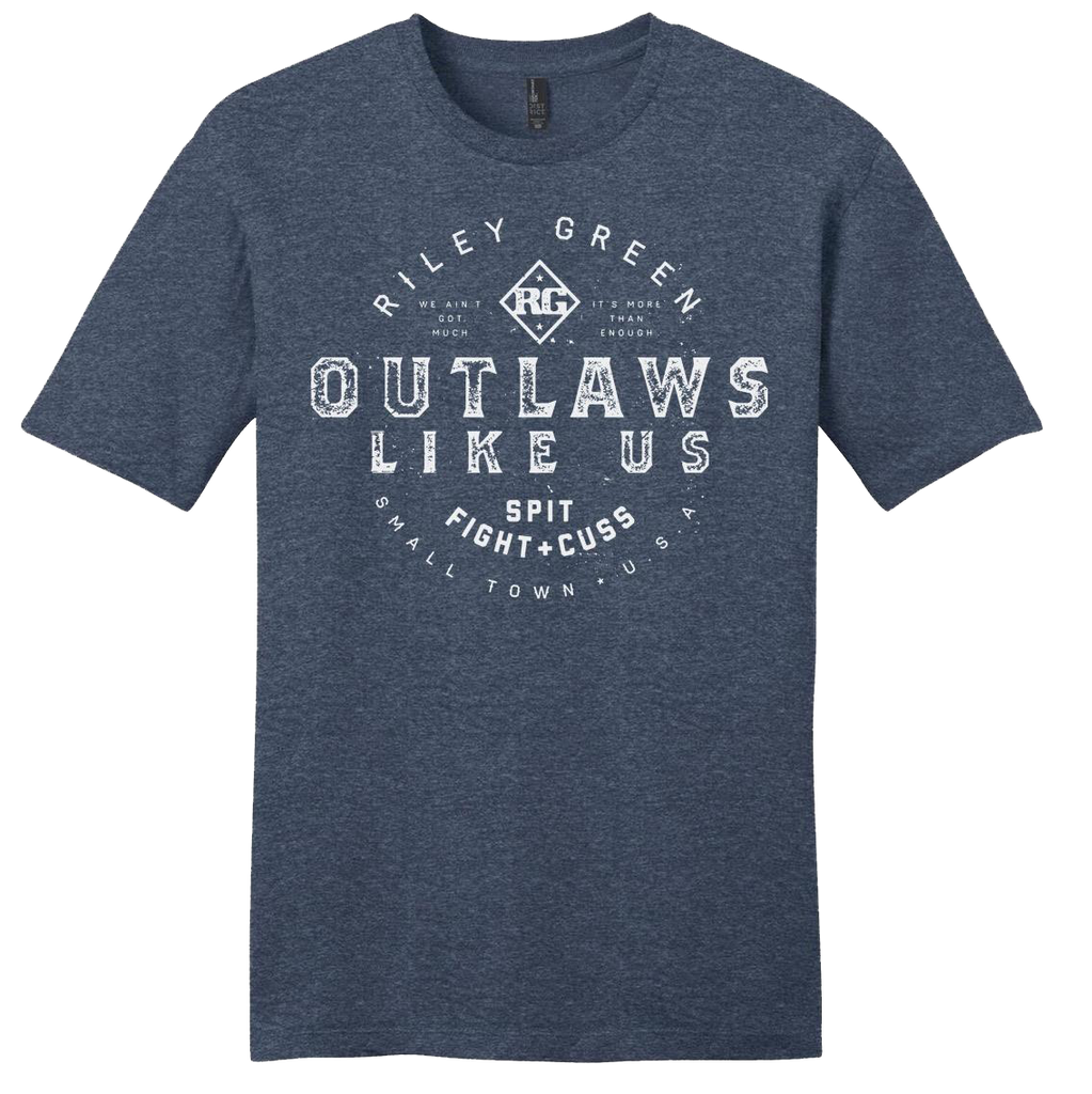 Outlaws Like Us Navy Tee