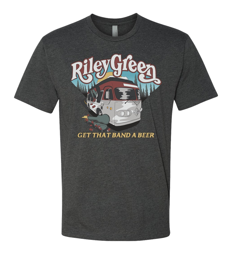 Get That Band A Beer Tee - Charcoal