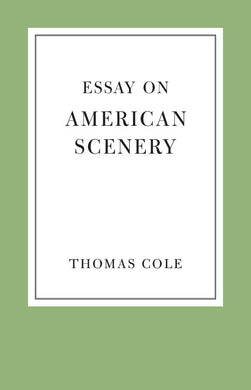Essay on American Scenery