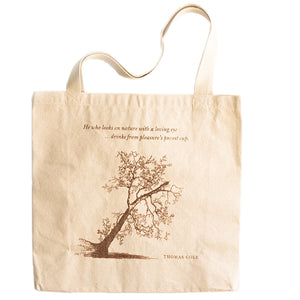 Button Wood Tree Tote Bag