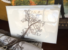 Load image into Gallery viewer, Button Wood Tree Letterpress Notecard