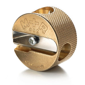 Premium Brass 2-Hole Pencil Sharpener