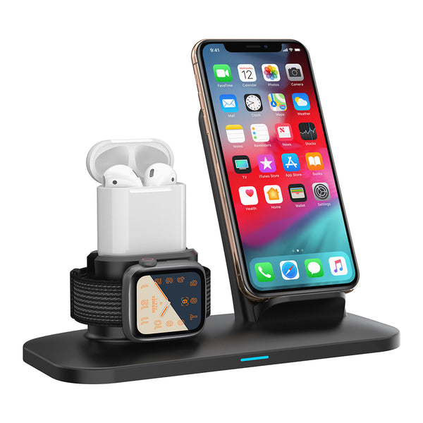 1Charge -  3 in 1 Wireless Charging Station | Charge iPhone / Apple Watch / Airpods or Samsung Phones