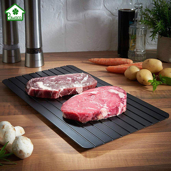2-in-1 Fast Defrosting Meat Tray + Cutting Board