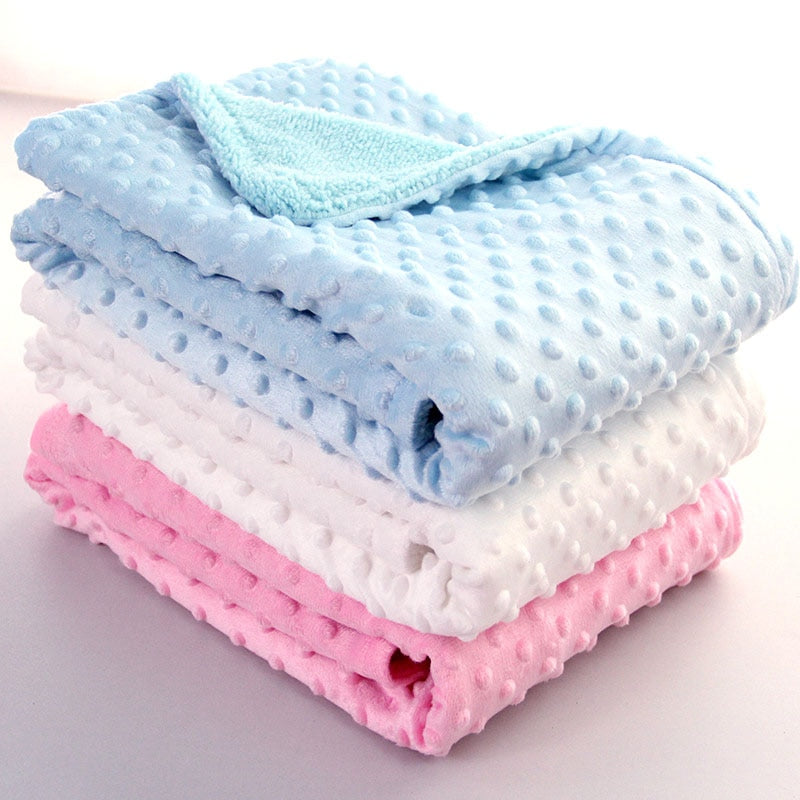 Baby Blanket & Swaddling Newborn Thermal Soft Fleece Blanket Solid Bedding Set Cotton Quilt