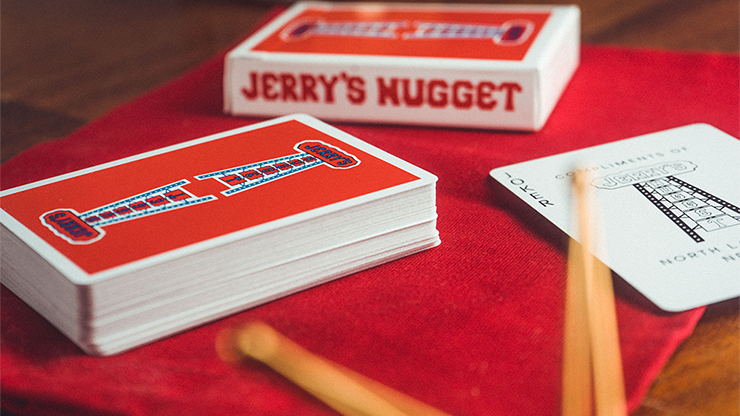 Jerry's Nugget Modern feel - Red Playing Cards | EPCC | Deckita Decks UK