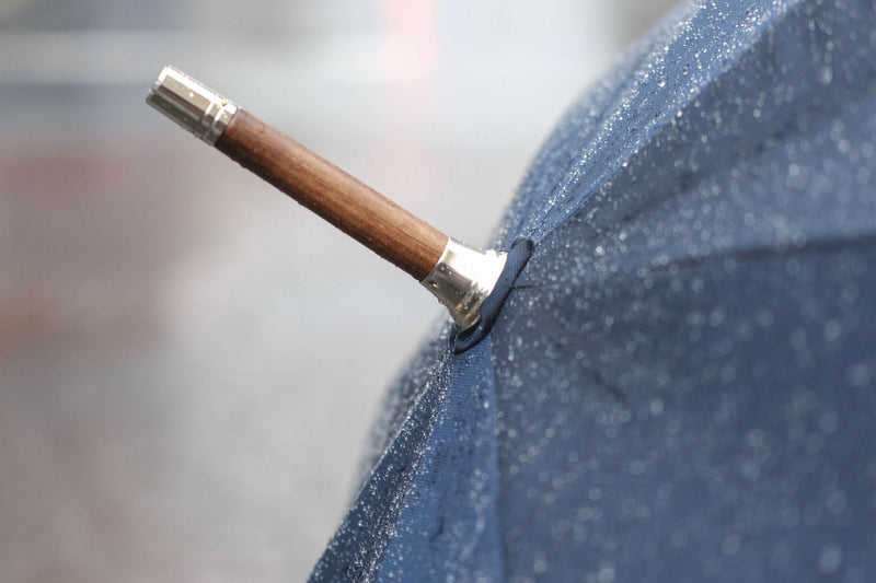 Solid Stick Umbrella in Chestnut