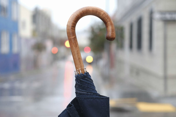 Solid Stick Umbrella in Scorched Maple