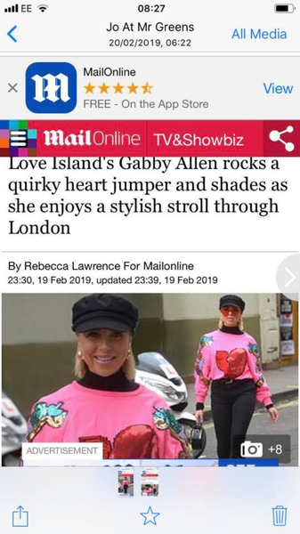 Celebs go mad for heart jumper