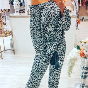 2 piece animal print set