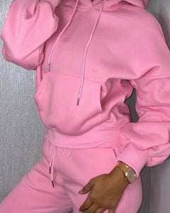 Ruche Arm Hot Pink Lounge Set
