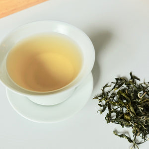 Enjoying a Taiwan Green Tea