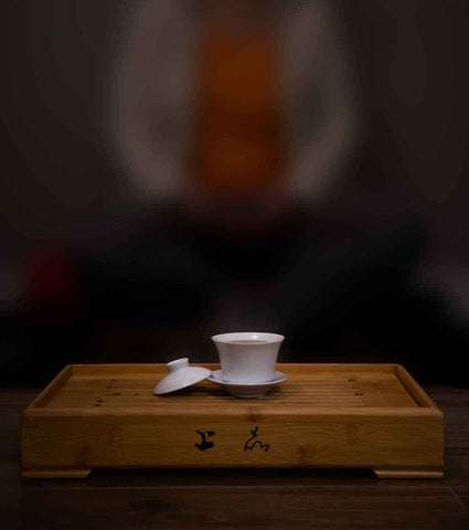 Meditating with tea