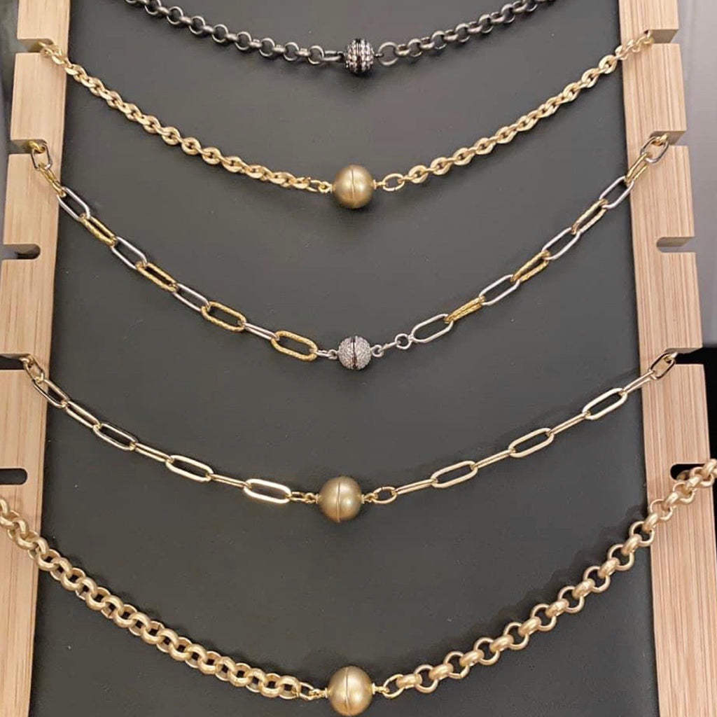 Chain Chokers with Magnetic Closure - Down 2 Earth