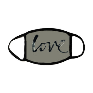 Love Script Mask (6 Feet Love) - Down 2 Earth