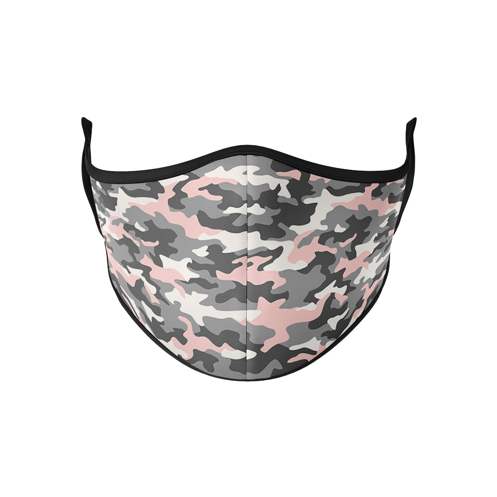 Pink Grey Camo Mask - Down 2 Earth