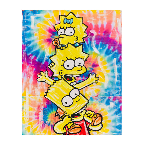 Tie Dye Simpsons Painting - Down 2 Earth