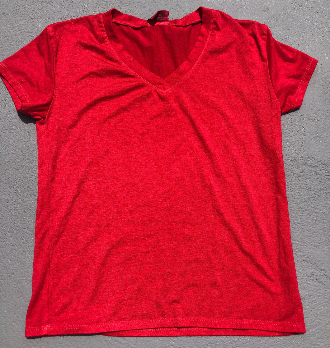 Red V Neck - Down 2 Earth