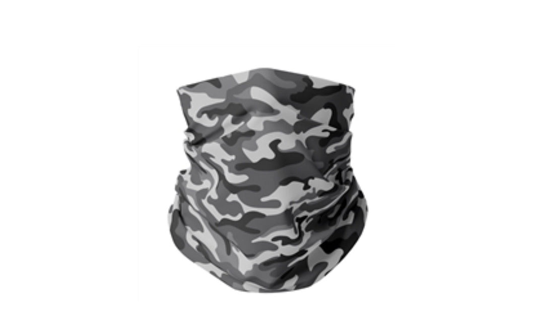 Grey Camo Gaiter Mask(Adult Men) - Down 2 Earth