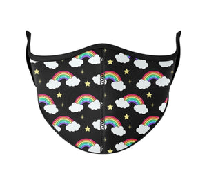 Rainbow Clouds Adjustable Toddler Mask