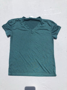 Green V Neck - Down 2 Earth